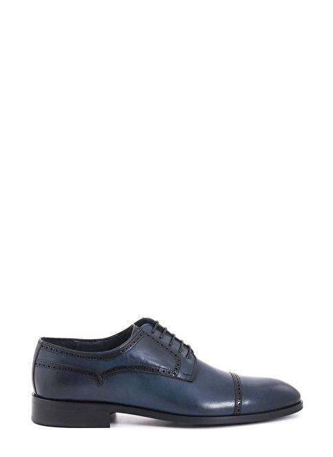 Kemal Tanca %100 Deri Bağcıklı Klasik Ayakkabı Lacivert